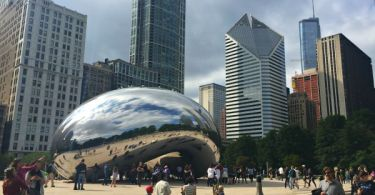 Millennium Park Bean in Chicago - Cloud Gate, The Bean, Millennium Park, Downtown Chicago, Illinois