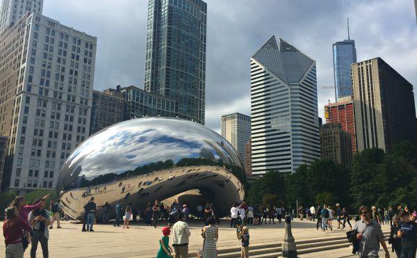 Millennium Park Bean in Chicago - Cloud Gate, The Bean, Millennium Park, Downtown Chicago, Illinois