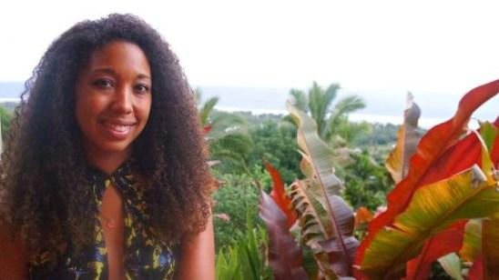 Deanna Underwood at Highland Paradise, Rarotonga, Cook Islands