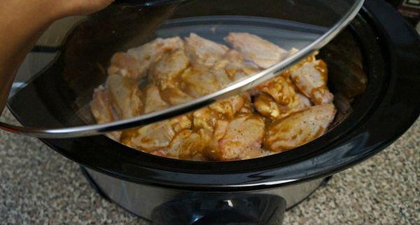 Making Thai Peanut Spiced Chicken in a Crock Pot