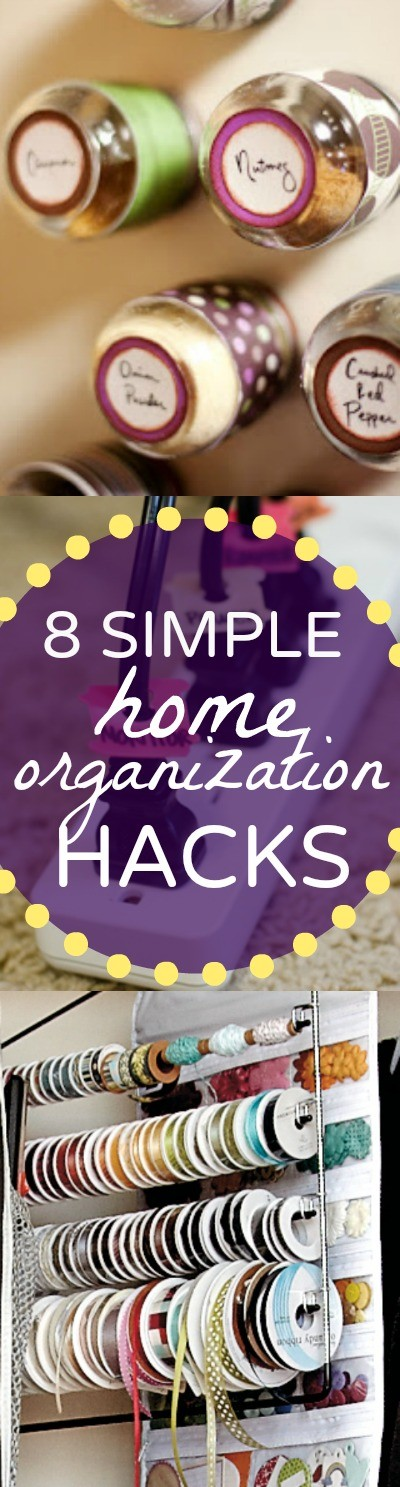 Need some home organization ideas to start to get rid of the clutter-  These simple organization tips and storage hacks for the home are so good, I just wonder why I didn't think of them!