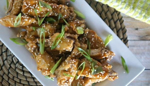 Thai Peanut Chicken Wings, a great appetizer or main course