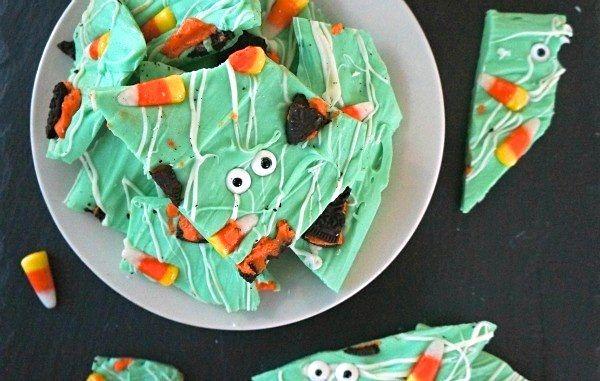 Fun Halloween treats - How to make Halloween Chocolate Bark