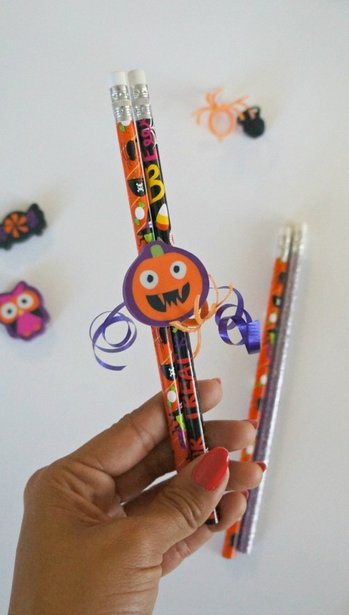 How to make Candy Free DIY Halloween Pencil Favors