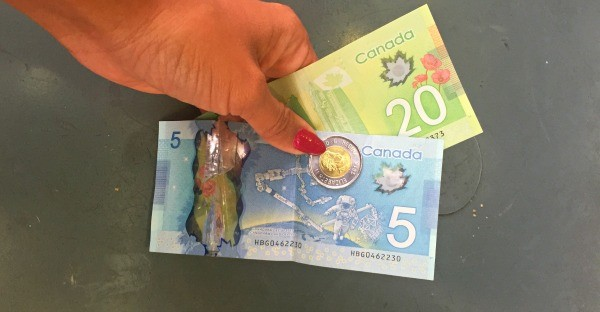 Cool things in Vancouver BC, Canada, Colorful money currency