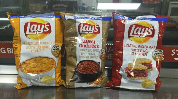 Interesting things I saw in Vancouver BC, Canada, Lays Flavored Chips