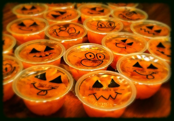 Jack O Lantern Orange Cups