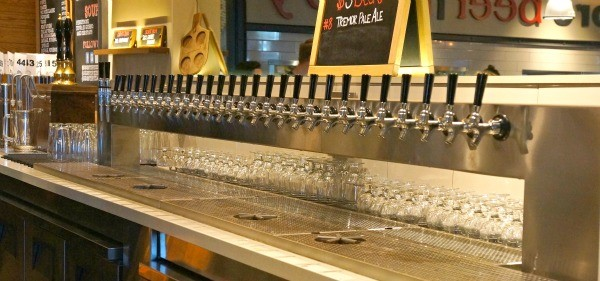 Beers on tap at Regents Pizzeria