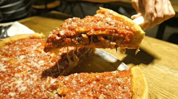 Deep Dish Pizza from Regents Pizzeria