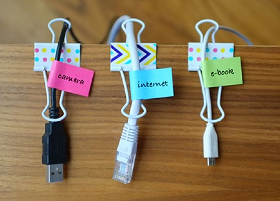 Electronic cord storage, Declutter Your Home Office, photo Right at Home