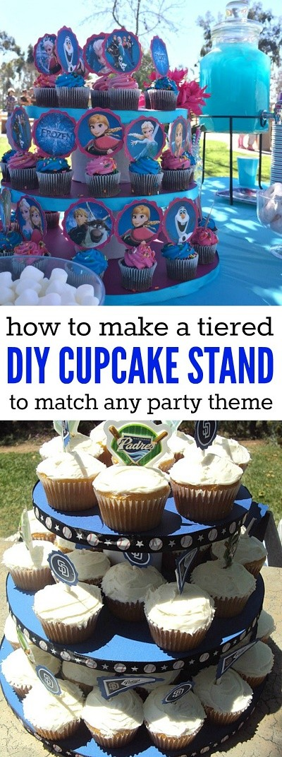 How to make a DIY cupcake stand to match any party theme!
