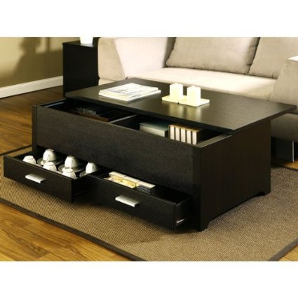 Living room storage coffee table with drawers
