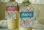 Cute wine bottle gift tags - a free printable by Honey + Lime