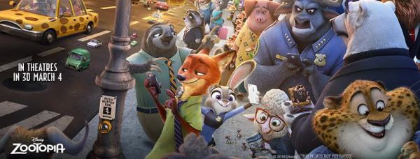 Disney's ZOOTOPIA in theaters March 4, 2016
