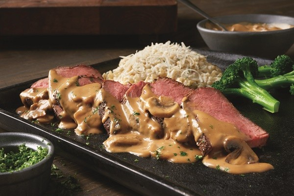 Outback Steakhouse Roasted Sirloin steak special with Risotto