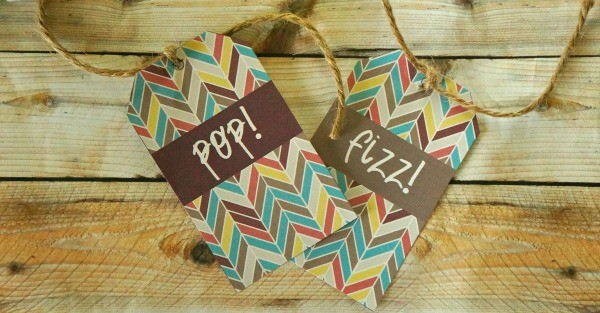 Pop! and Fizz! wine bottle gift tags printable