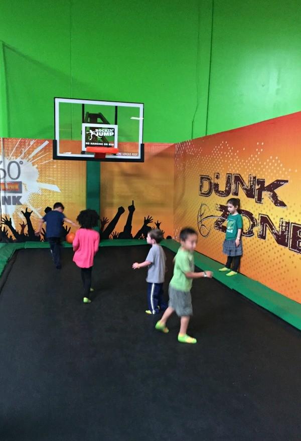 Rockin Jump San Diego Trampoline basketball court