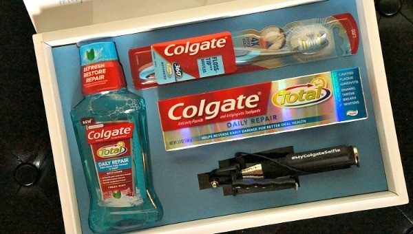 Colgate Total Daily Repair toothpaste and mouthwash #mycolgateselfie