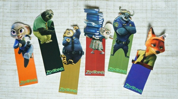 Disney's Zootopia bookmarks