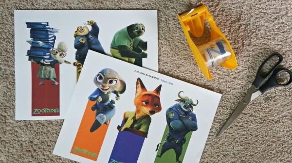How to make Disney's Zootopia printable bookmarks
