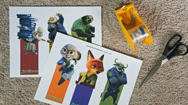 How to make Disney's Zootopia printable bookmarks