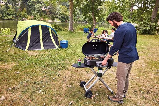 Coleman Road Trip portable camping propane gas grill