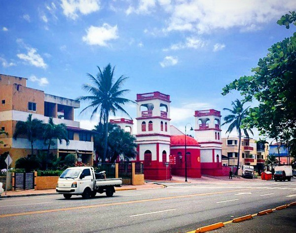 Fathom travel, Waterfront street with restaurants and shops in Downtown Puerto Plata, Dominican Republic