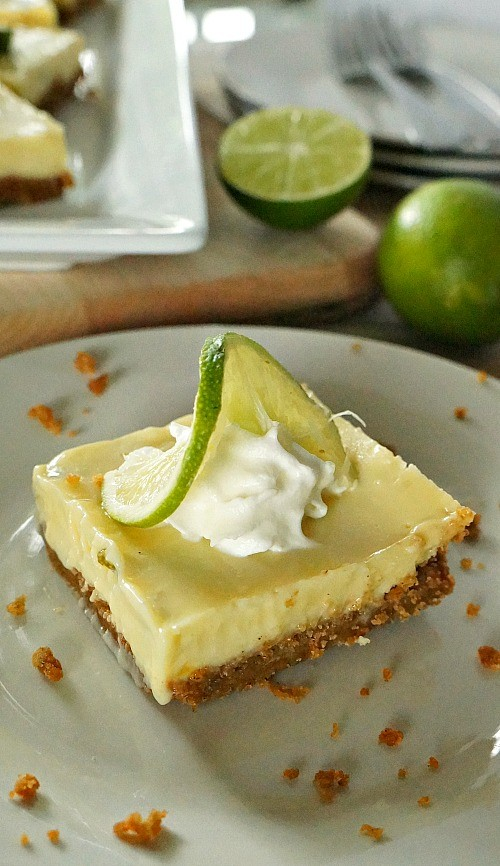 Key lime pie bars recipe, love the tangy and sweet flavor