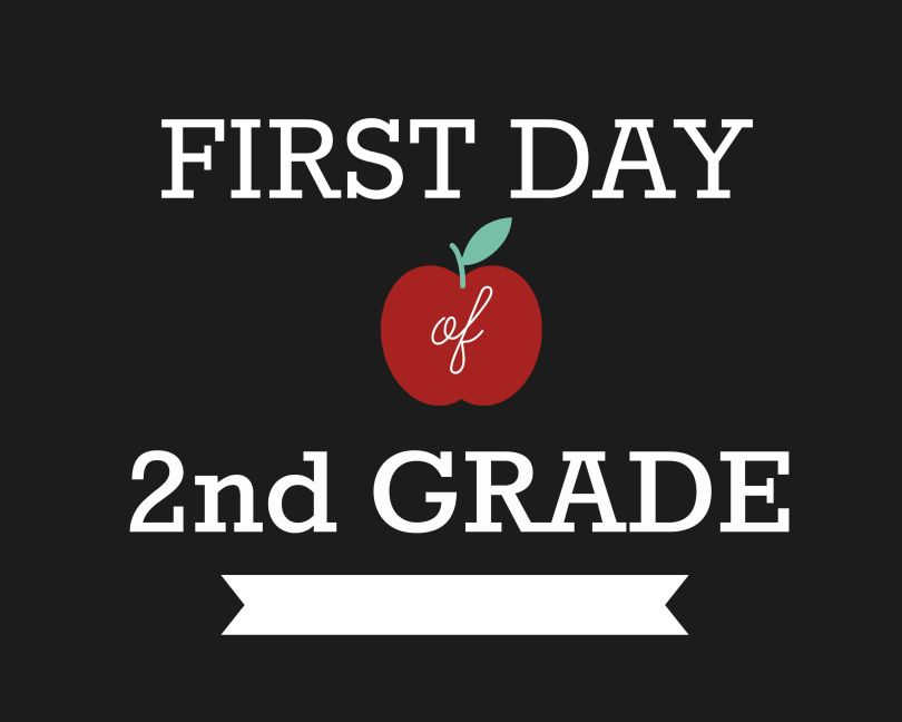 First Day of Second Grade Signs