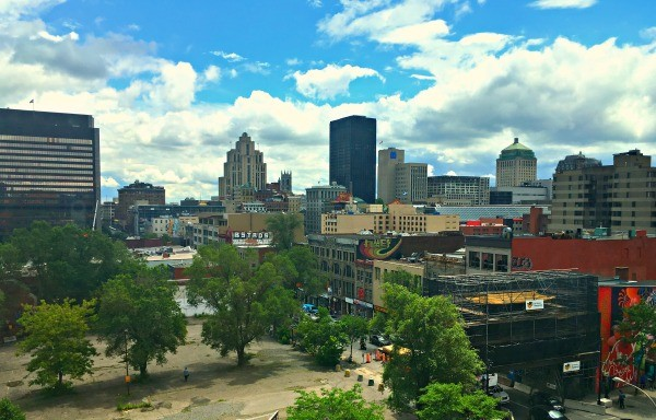 Montreal, Quebec - View of the city from Hotel Zero 1, 7th floor