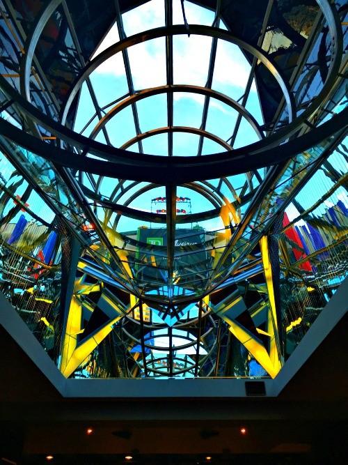 Montreal, Quebec - the ceiling inside Place des Arts