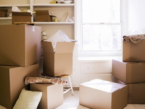 packing up your home, moving boxes