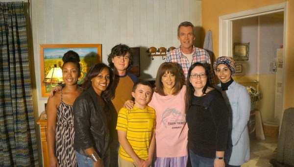 Behind the Scenes at ABC's The Middle set visit - Actors Patricia Heaton, Atticus Shaffer, Charlie McDermott, and Neil Flynn with Disney bloggers