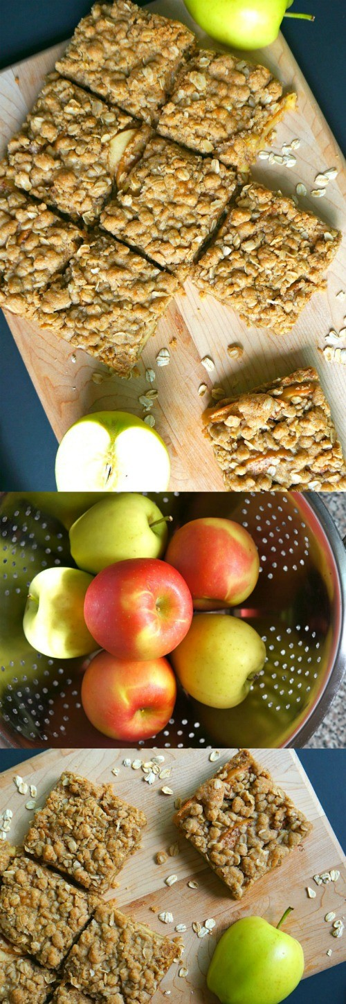 OMG this apple cinnamon baked oatmeal bars recipe is amazing! Made with raw oats and fresh fall apples, these apple oatmeal bars are pretty easy to make. Top with vanilla ice cream, yum!