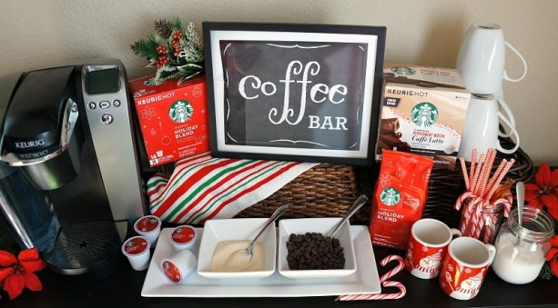 Entertain guests this Christmas with a holiday DIY coffee bar