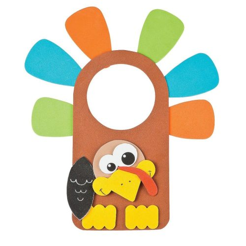 Thanksgiving turkey door knob hanger craft, Fun Express
