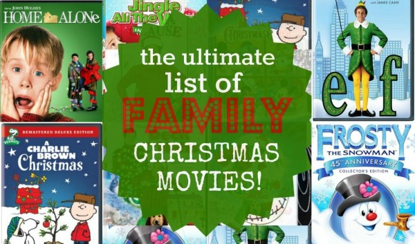 The ultimate list of family Christmas movies... There are so many classics here, you'll love watching these with your kids during the holidays