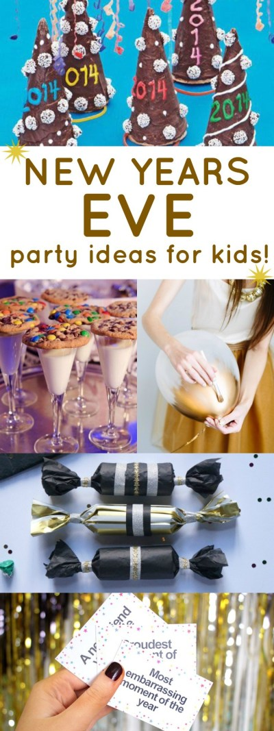 Celebrating the new year with the kids? These new years eve party ideas for kids are so much fun, countdown together to the new year with these ideas!