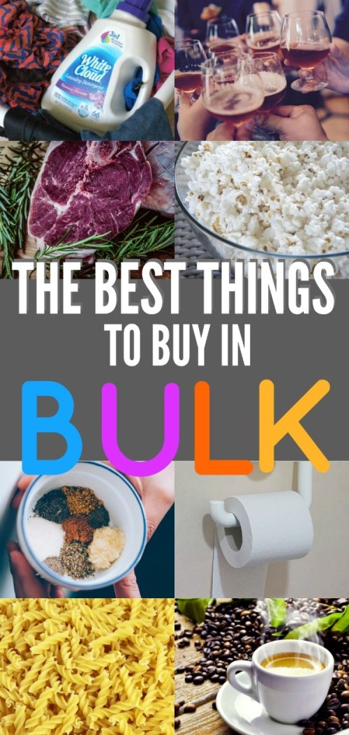 17 Foods and Household Things You Should Buy In Bulk To Save Money