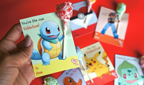 Printable Pokemon Valentines, Squirtle Valentine cards