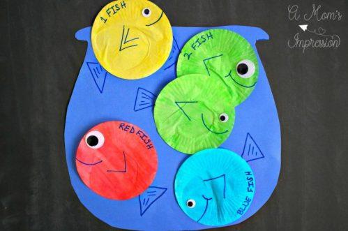 1 Fish 2 Fish, Red Fish Blue Fish activities, A Moms Impression