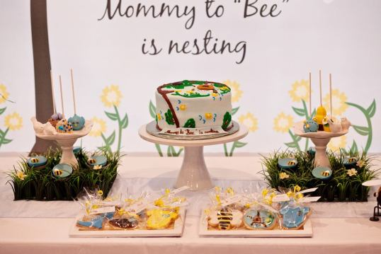 Bumble bees baby shower theme