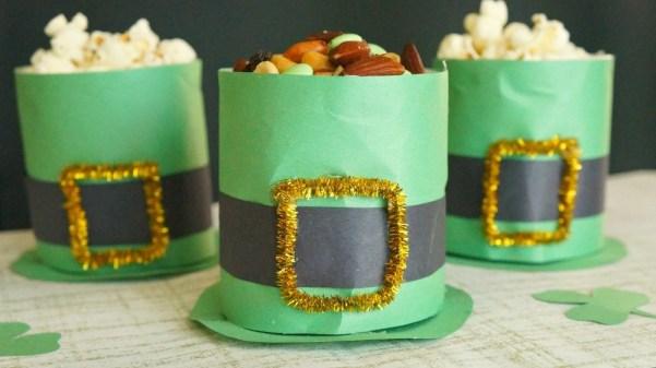 DIY St. Patrick's Day Leprechaun Hat Treat Cups Craft