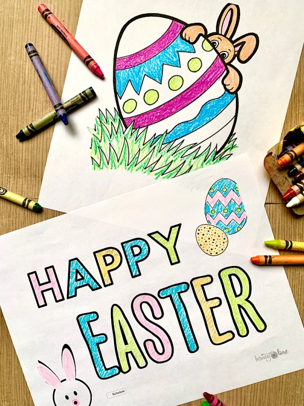 16 Free Easter Printable Coloring Pages For Kids Honey Lime