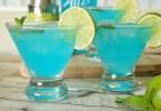 Blue passion mojito recipe a summer cocktail using Alize Bleu Passion liqueur