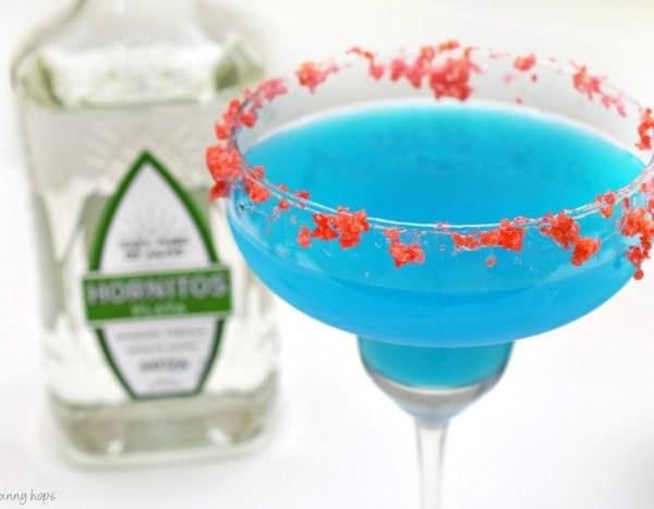 Firecracker Margarita recipe with Blue Curacao