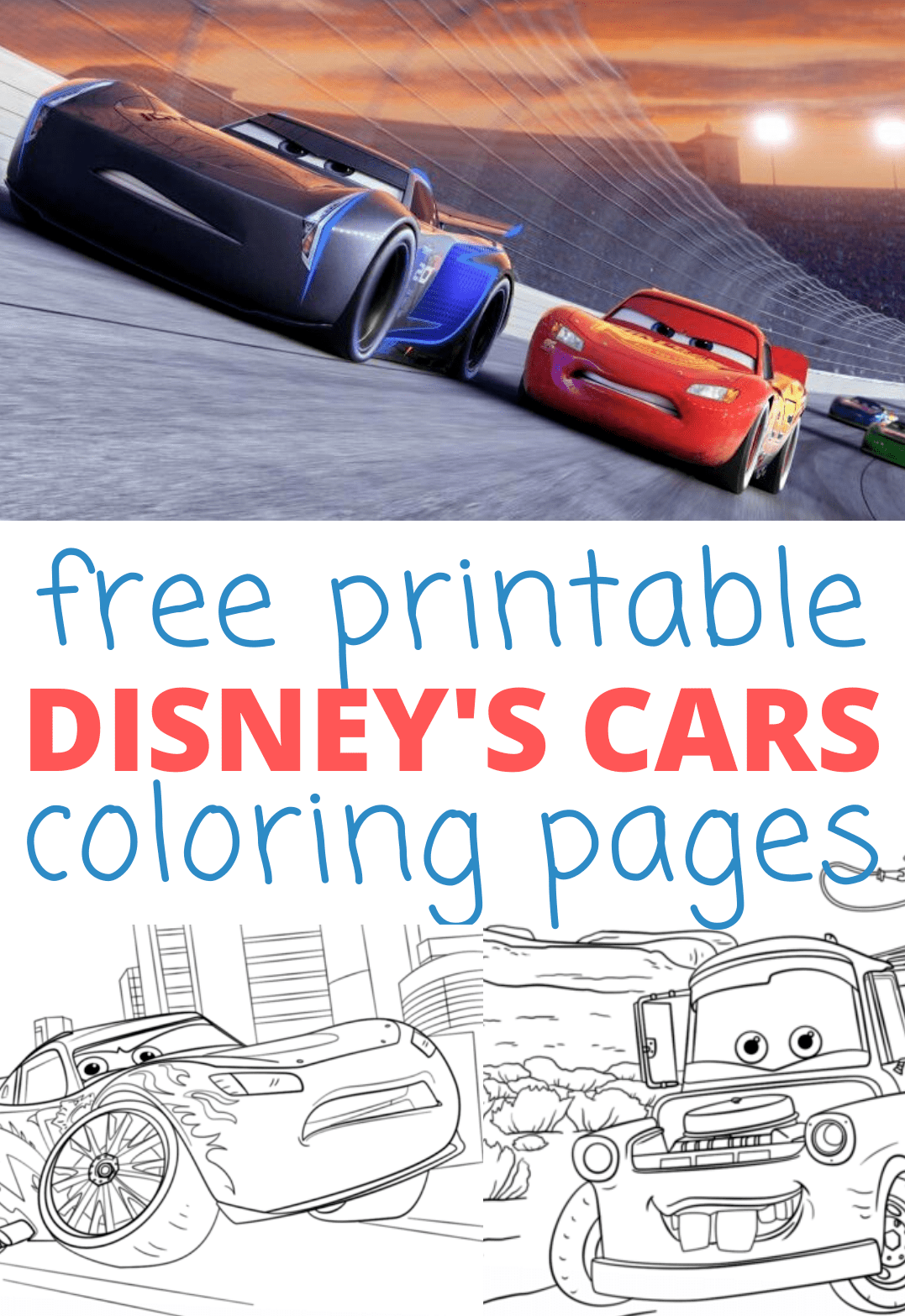 Disney Cars Coloring Pages, Printable Activities: Cars 3 In Theaters 6/16!