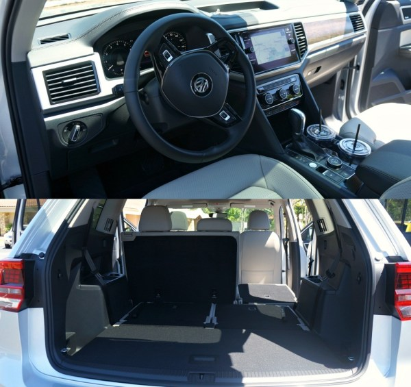 Front seat and cargo space in the trunk of the 2018 Volkswagen Atlas