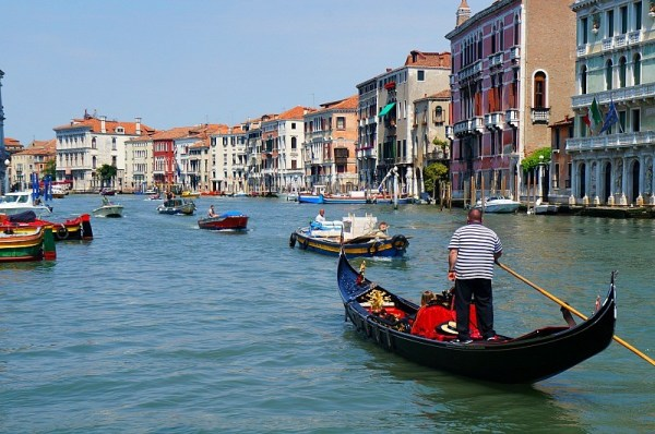 Gondola ride on the Grand Canal in Venice Italy, Honey + Lime