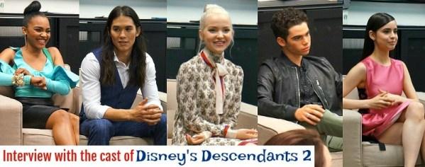 Interview with the cast of Disney's Descendants 2 movie, China Ann McClain, Boo Boo Stewart, Dove Cameron, Cameron Boyce, Sofia Carson